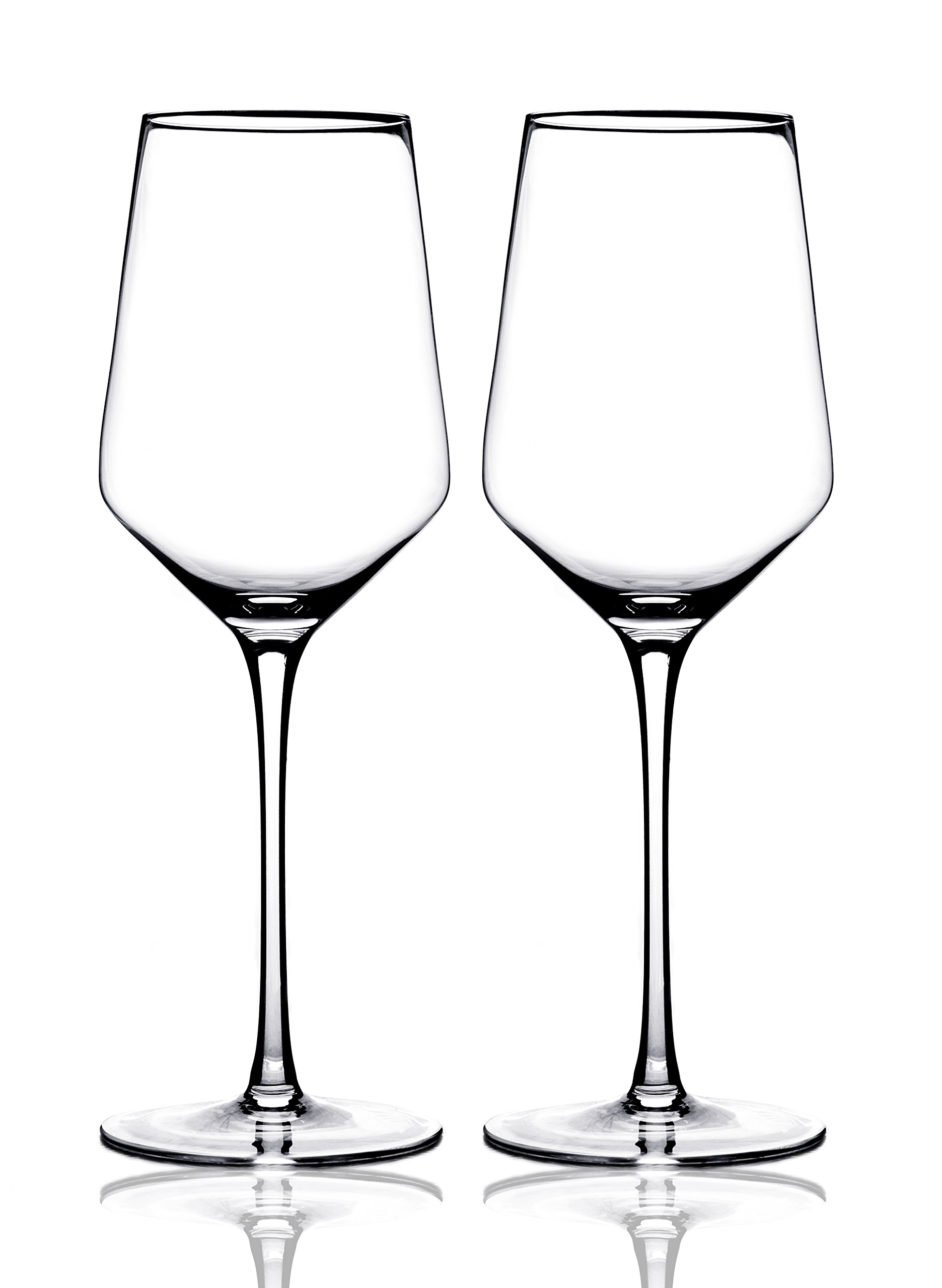 Merry Crystal- Set of 2 Clear Glass Drinking Cups - 17oz Restaurant Style Stemware - Elegant Box by Award Winning Designer with Special Xmas Bag- Unleaded - Dishwasher Safe by AY&Z Frostware (Image #5)