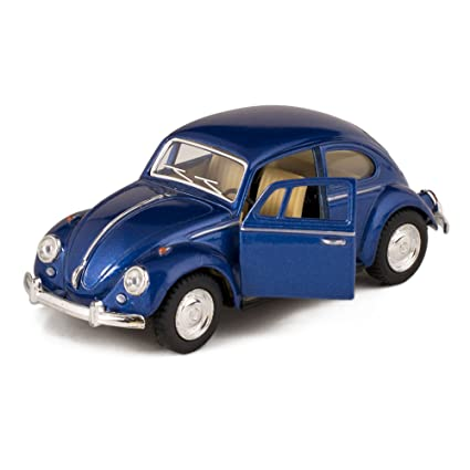 Amazoncom Blue 1967 Classic Die Cast Volkwagen Beetle Toy With