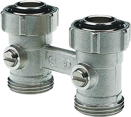 COSMO Zweirohr-Hahnblock 3//4 AG Konus lose DN 20 Eckform 10 bar 50mm