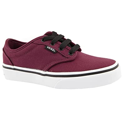 cb9d8f3057d675 Boy Junior Vans Atwood Red - Black Canvas Shoes Size 6  Amazon.co.uk ...