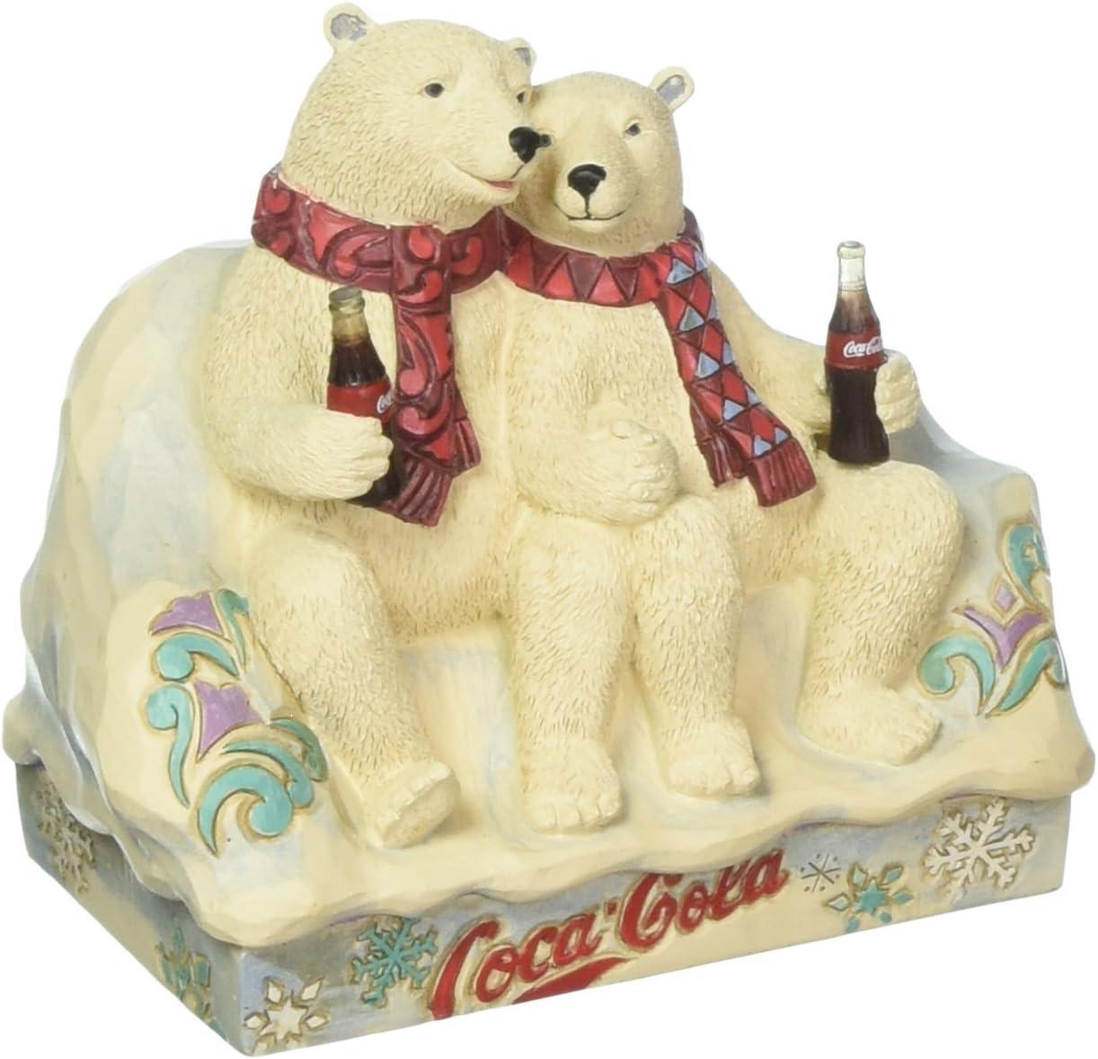 Enesco Coca-Cola by Jim Shore 4059475 Coke Polar Bear Couple Figurine