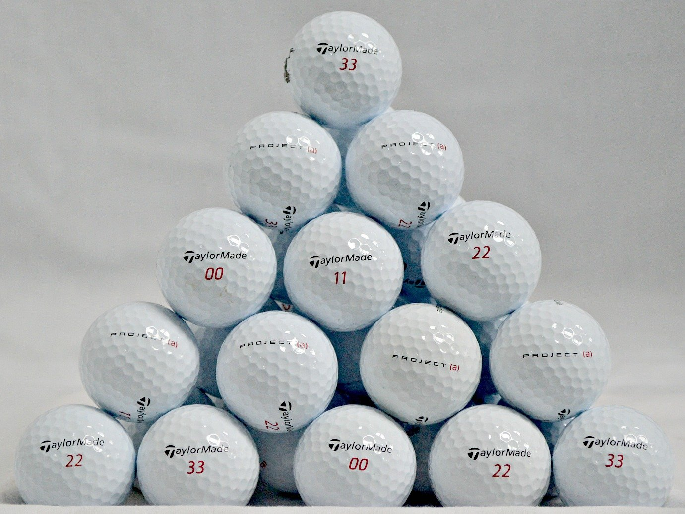 TaylorMade 60 Project A Near Mint Used Golf Balls