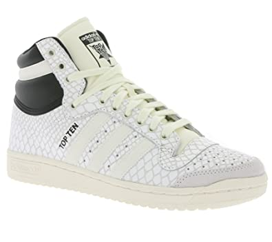adidas Damen Top Ten Hi Basketballschuhe weiß: