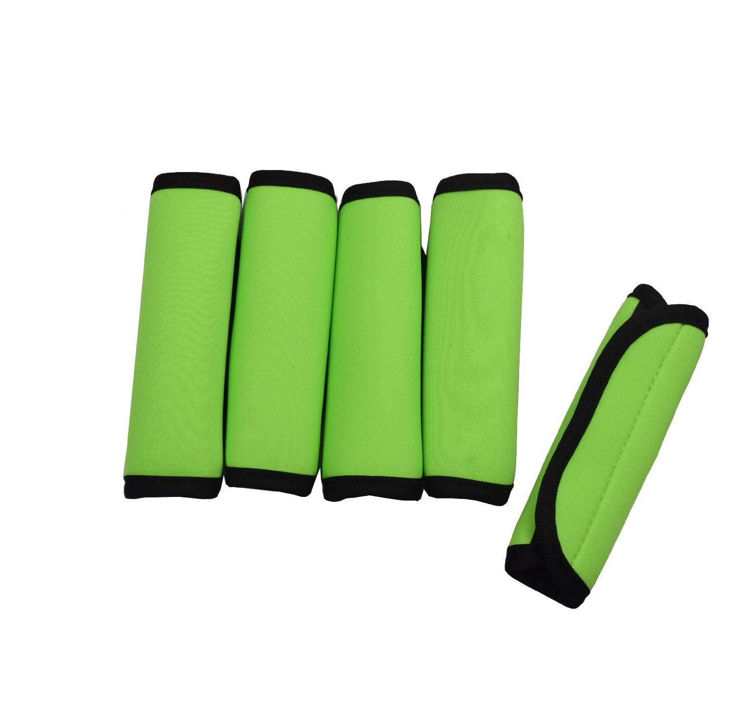 Case Wonder 5 Pack Soft Comfort Neoprene Water-Resistant Handle Wraps //Grip Green Identifier Hand Luggage for Travel Bag Luggage Suitcase