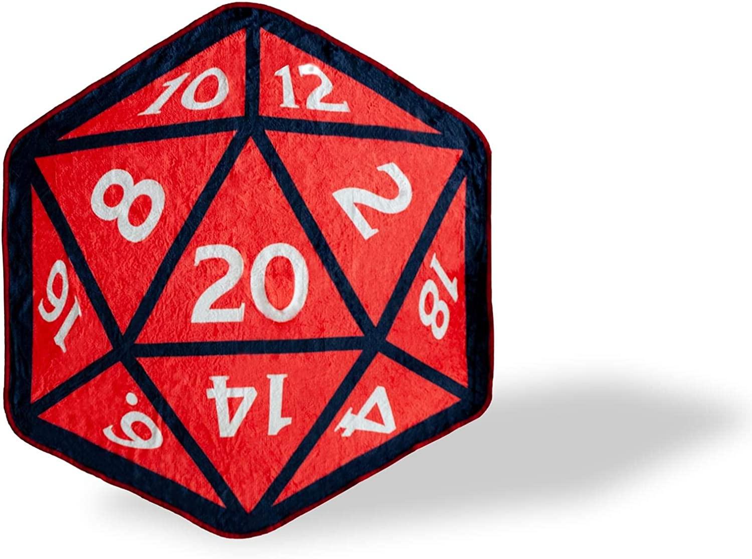 Dungeons And Dragons D20 Fleece Throw Blanket | Soft Blankets And Throws Fleece Blankets For Gamers | Designed After The D&D 20-Sided Dice | Measures 52 x 48 Inches