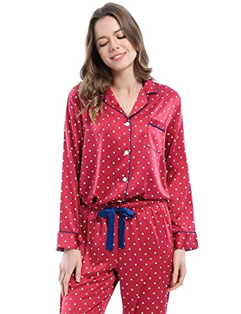 Serenedelicacy Women s Silky Satin Pajamas 2614cc65f