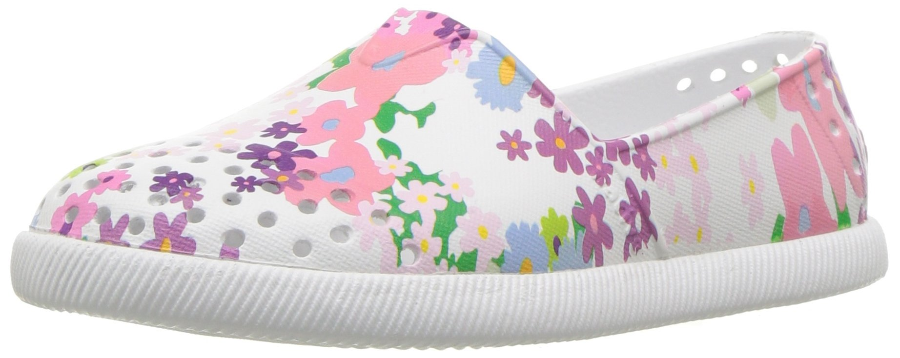 native Kids Print Verona Water Proof Shoes, Shell White/Shell White/Daisy Chain, 13 Medium US Little Kid