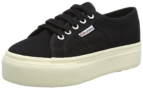 Superga 2790 Linea Up And Down Donna Black Black Tela Scarpe 8 UK