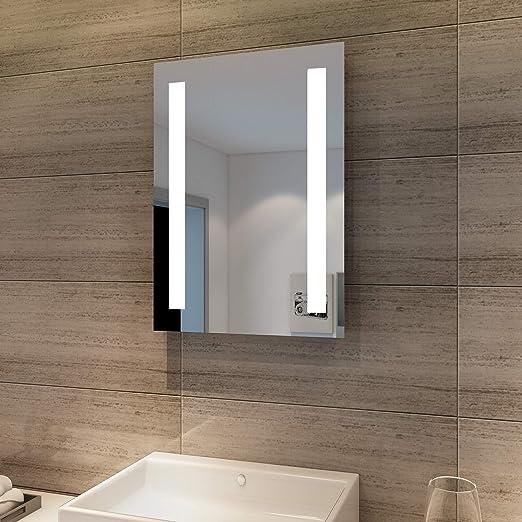 Badezimmerspiegel Mit Beleuchtung.Sonni Badspiegel Mit Beleuchtung 45 X 60 Cm Wandspiegel Spiegel Mit Beleuchtung Badezimmerspiegel Kaltweiss Ip44 Badezimmer Bad Spiegel Amazon De Kuche Haushalt