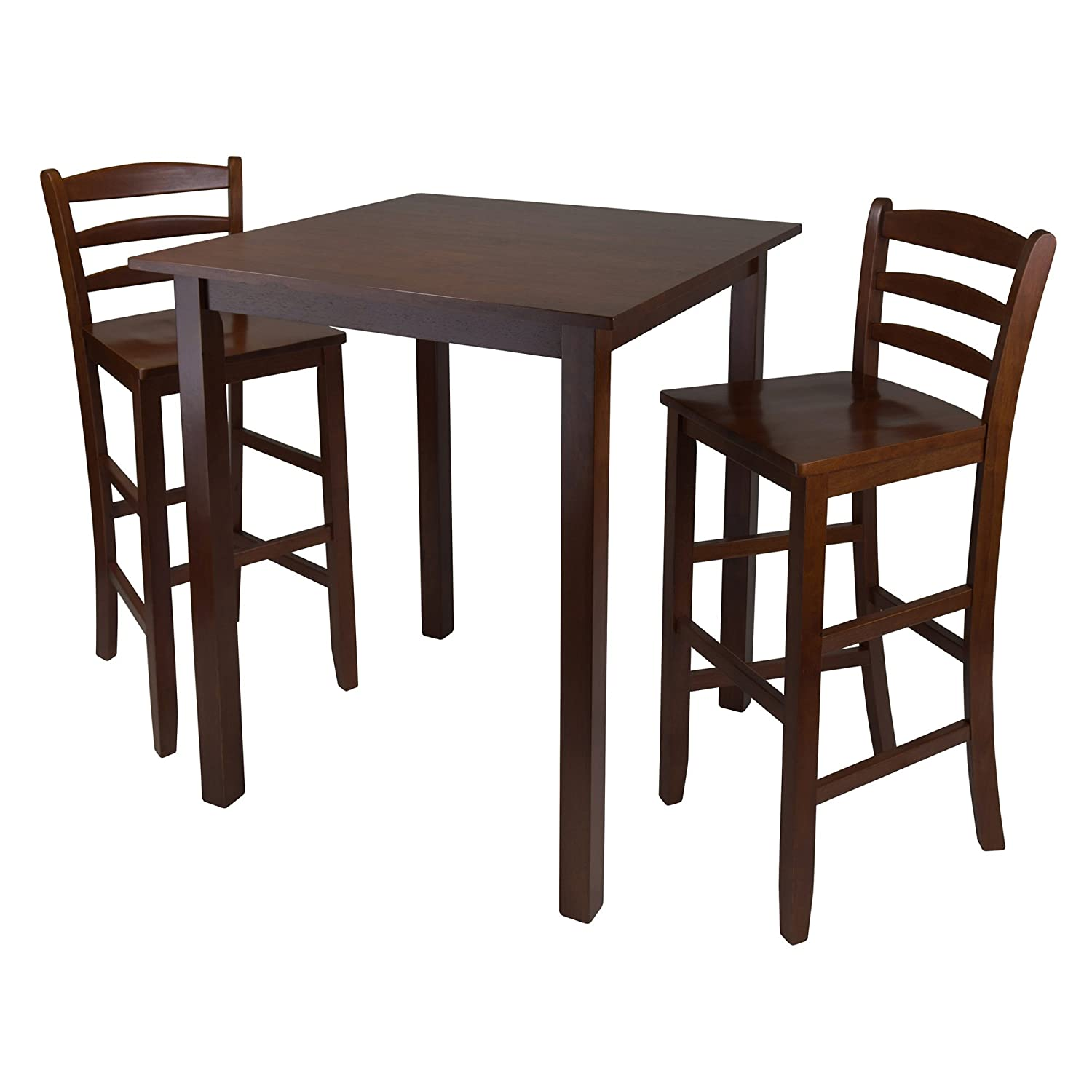 Amazon.com: Winsome Parkland 3 Piece High Table With Ladder Back Stool,  29 Inch: Kitchen U0026 Dining