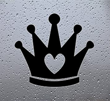 Crown Car Decal Sticker 4 Inch Black Automotive