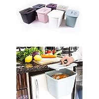 Buffer Dolap Kapağına Asılabilen Kapaklı Pratik Çöp Kovası Çöp kutusu