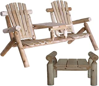 product image for Lakeland Mills Tete-a-Tete Patio Chairs with Ottaman