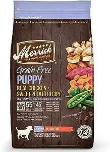 Merrick Grain Free Puppy Chicken Sweet Potato Recipe Dry Dog Food (4 lb)