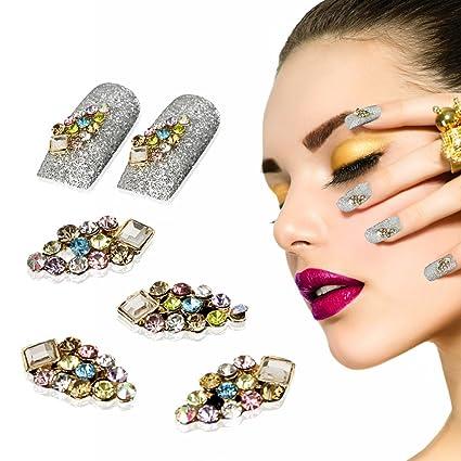 Yevita 10 Piezas Cristal Diamantes para Uñas Postizas Joyería Brillo Decoración Diseño de Uñas