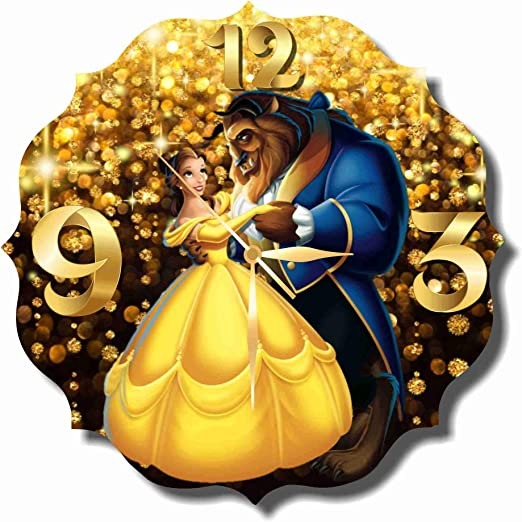 Amazon Com Original Handmade Wall Clock Beauty And The Beast 11 8 Get Unique Decor For Home Or Office Best Gift Ideas For Kids Friends Parents And Your Soul Mates Home Kitchen
