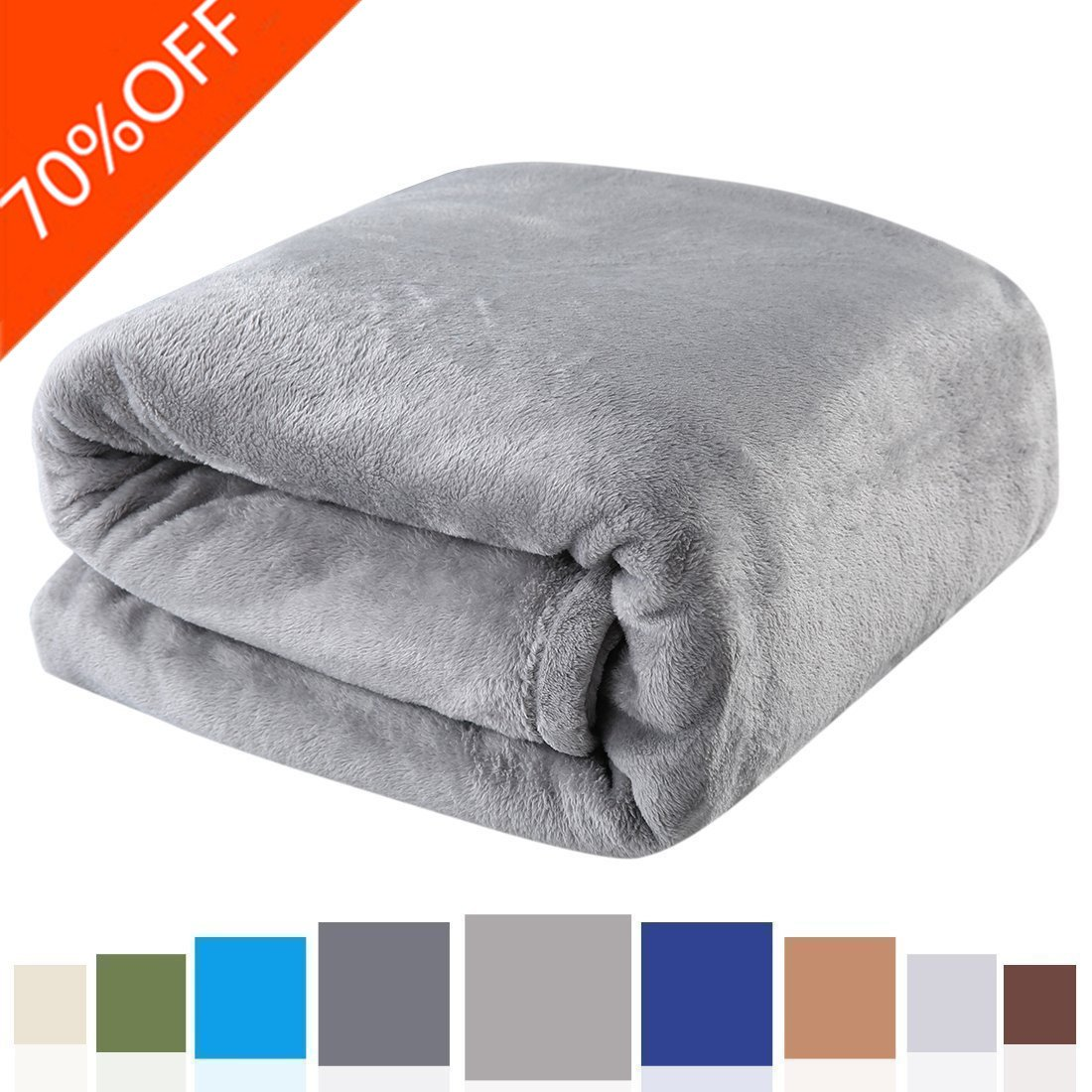 Balichun Luxury 330 GSM Fleece Bed Blanket Super Soft Warm Fuzzy Lightweight Throw or Couch Blanket Twin/Queen/King Size