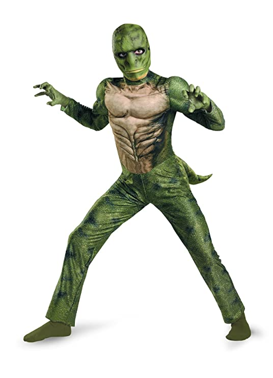 The Amazing Spider-man Lizard Classic Muscle Costume, Green/Tan, Small