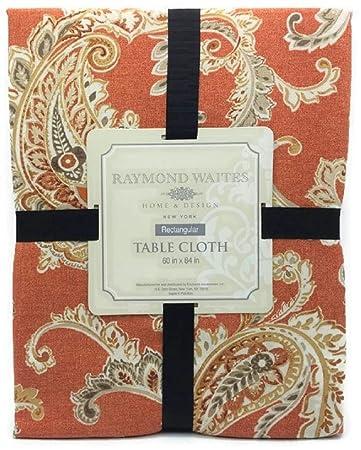 Merveilleux Raymond Waites Autumn Paisley 60 X 84 Inch Tablecloth