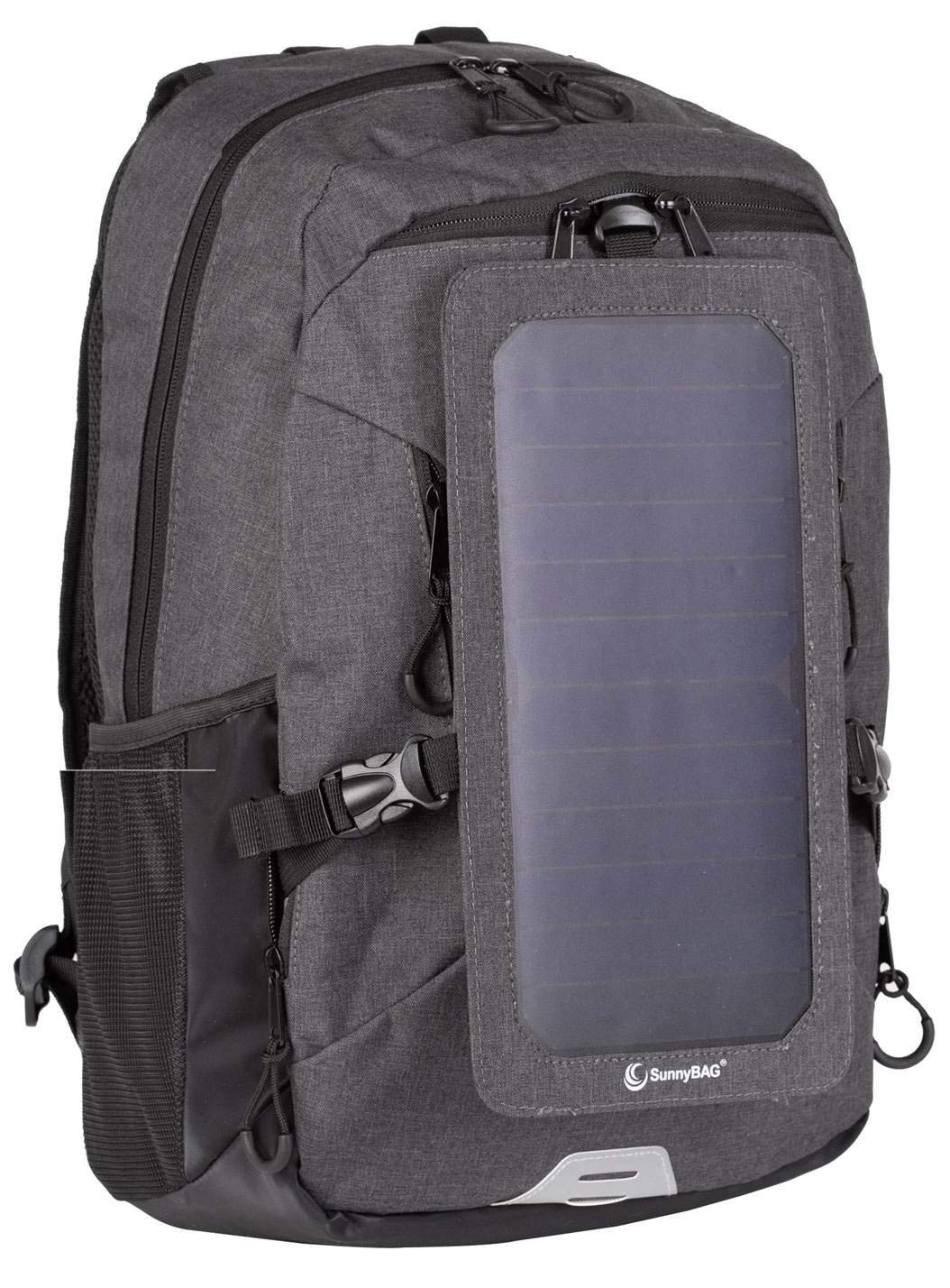 Backpack with Solar-Panel by SUNNYBAG Explorer+   solarbag Solar Charger   World's Strongest solarpanel for Smartphone Charging on The go   Black/Black