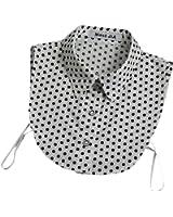 Joyci Modern Lovers Joker Dot Half Shirt Winter Blouse False Doll Collar