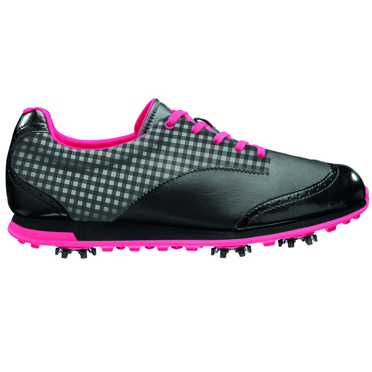 adidas Women's Driver Grace Golf Shoe,Black/Black/Fresh Pink,10 M US