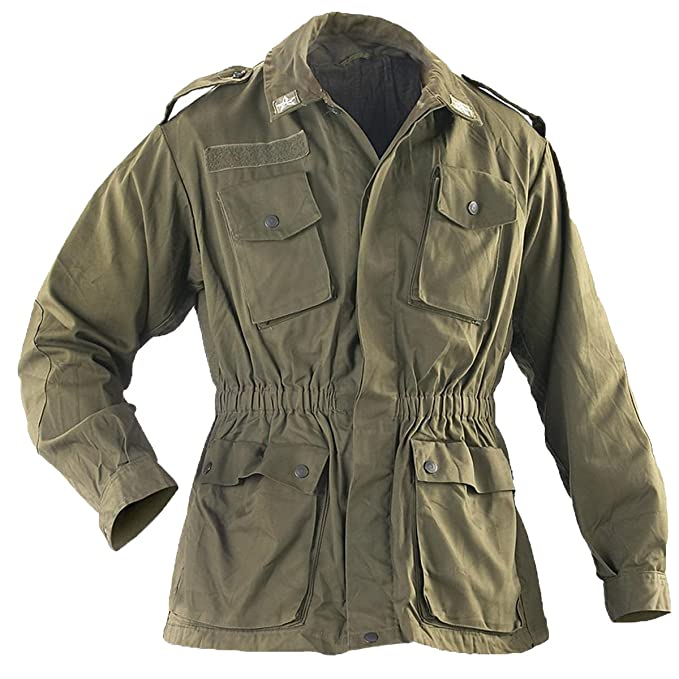 a2f07c6dff8 Italian Army Genuine Issue Surplus Military Combat Field Jacket Olive Drab  GRADE1 (36)  Amazon.co.uk  Clothing