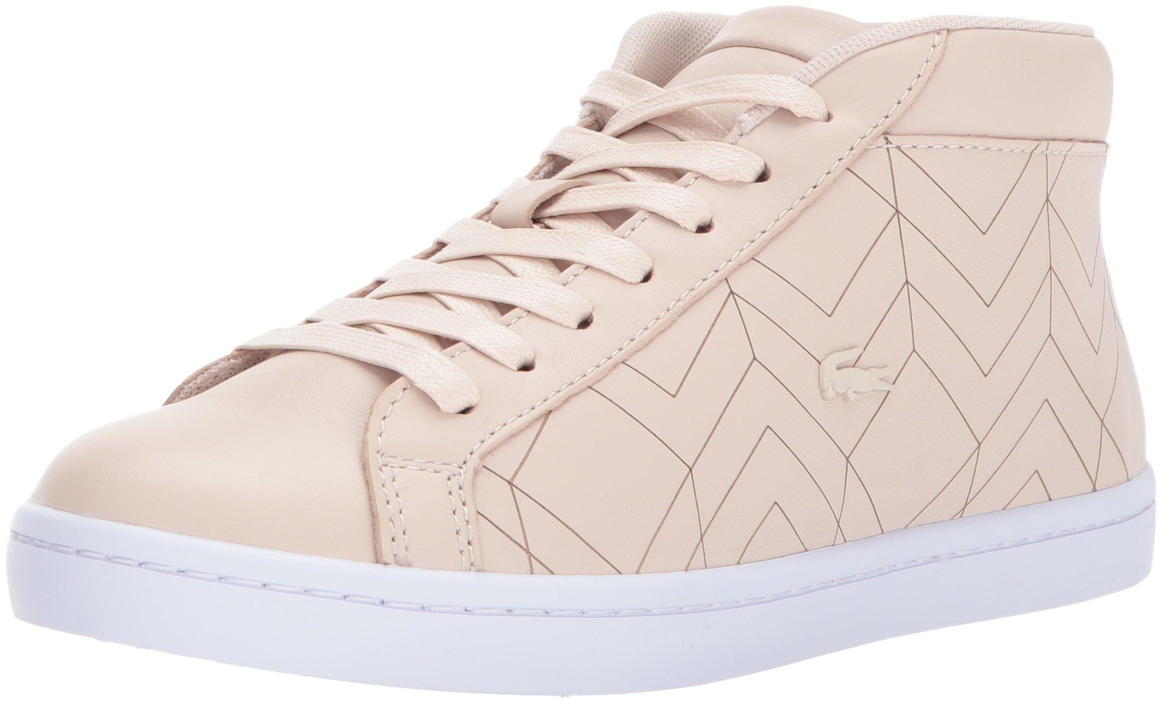 Lacoste Women's Straightset Chukka 417 1 Sneaker, Light Pink, 10 M US