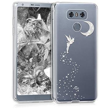 kwmobile Funda para LG G6 - Carcasa Protectora de TPU con diseño de Hada Brillante en Plata/Transparente