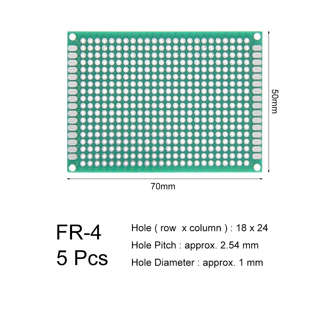 sourcing map 7x9cm Double face Universel Circuit imprim/é pour DIY Soudure 3pc