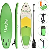 """Uenjoy Inflatable Sup 11'30""""x6"""" All Around Paddle Board, W/Full Accessories, Perfect for Yoga Fishing Touring"""