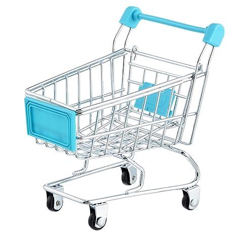 Carrito de la compra Craft Decoración Trompeta carrito de supermercado carrito de modelo de metal juguete