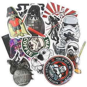 Vinstickers - Pack de 25 pegatinas impermeables Star Wars para ...
