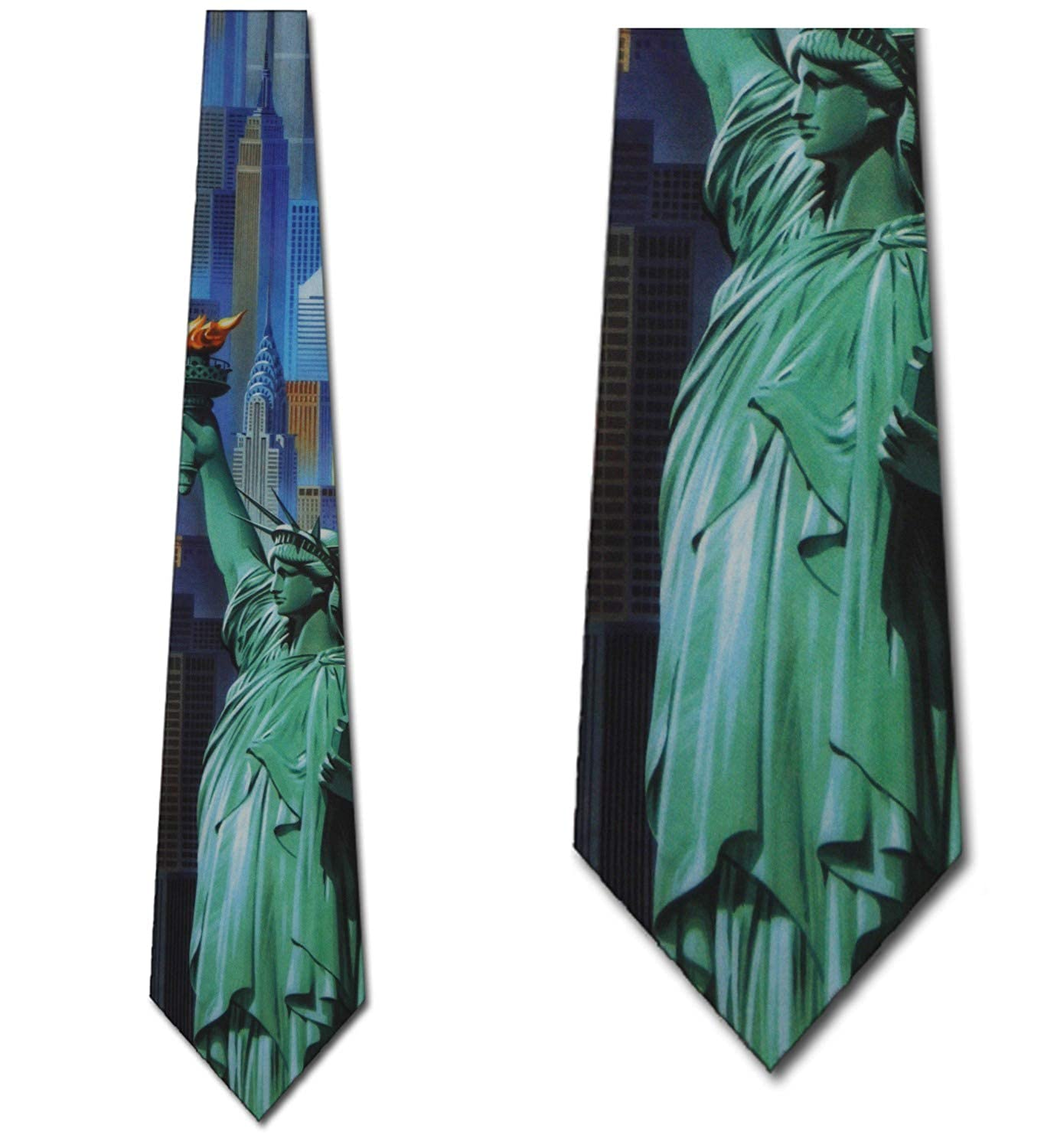 c2a93e63bc33 Amazon.com: New York Ties Statue of Liberty Neckties Monument Tie Mens  Necktie: Clothing