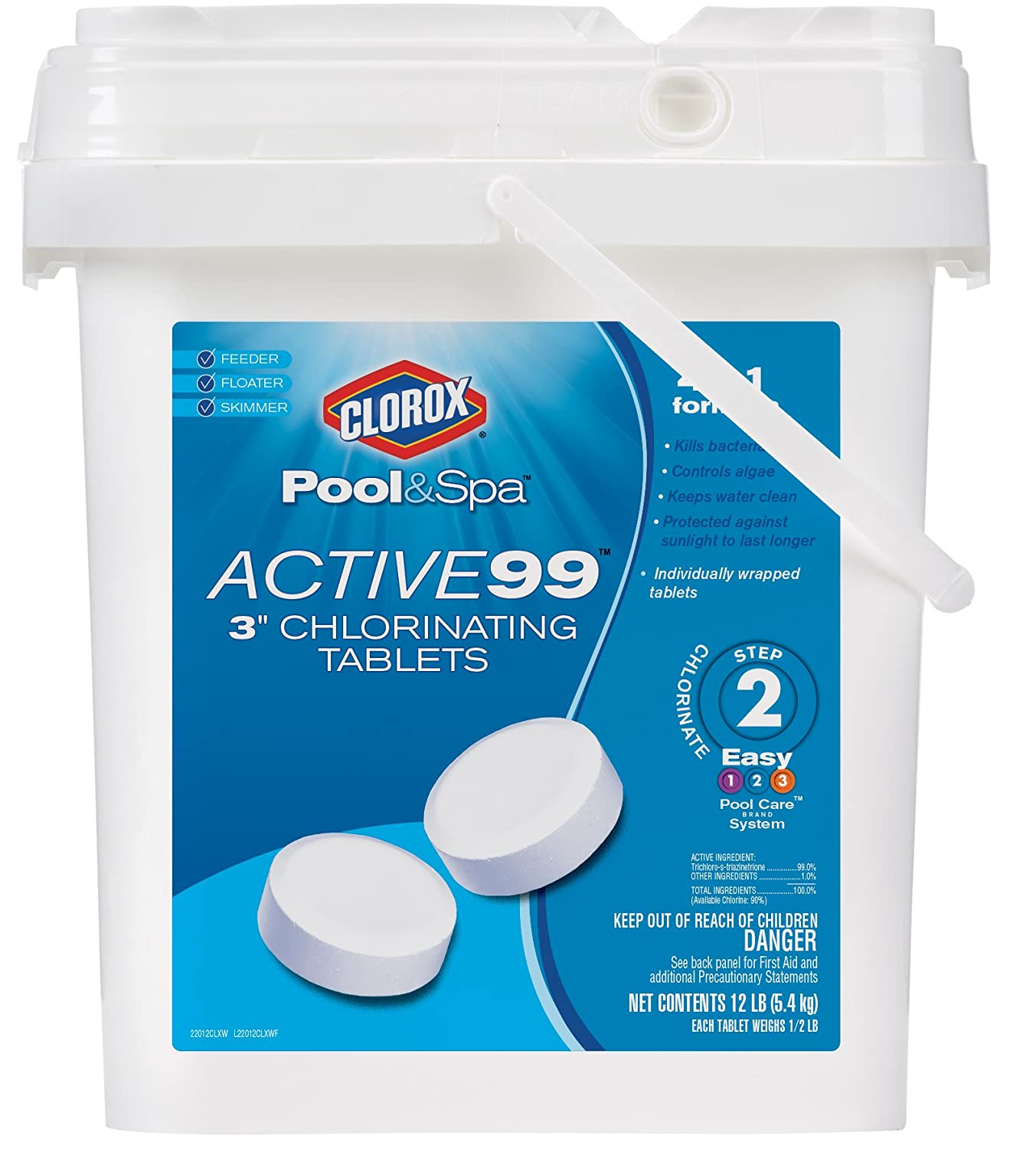 Clorox Pool Spa Clxw Active   Inch Chlorinating Tablets  Pound
