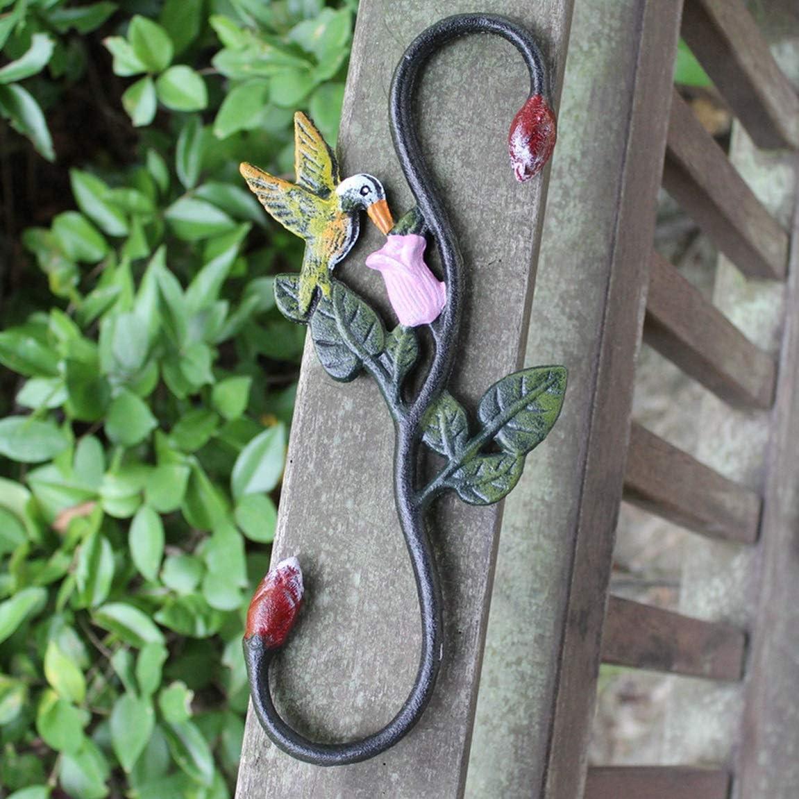 CKH - Gancho retro americano de hierro fundido rural para pintura artística S-animal gancho de hierro para colgar cestas de flores, gancho para macetas, Kingfisher