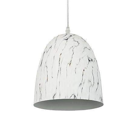 Light Society Castillo Pendant Light, Marble Finish with Gray Veining, Vintage Modern Lighting Fixture LS-C140