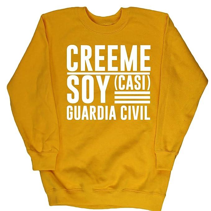 HippoWarehouse Créeme Soy (Casi) Guardia Civil jersey sudadera suéter derportiva unisex niños niñas