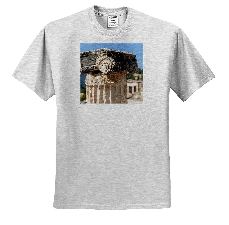 Europe 3dRose Danita Delimont ts/_313616 Delphi Architecture Adult T-Shirt XL Detail of Ionic Column Greece