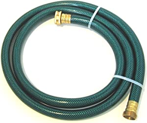 Garden Water Hose Extension with Brass fittings replacement for use w/ Utility Pumps, Hose Reels, Rain Barrels, Ponds, Fish Tanks. with a 5/8