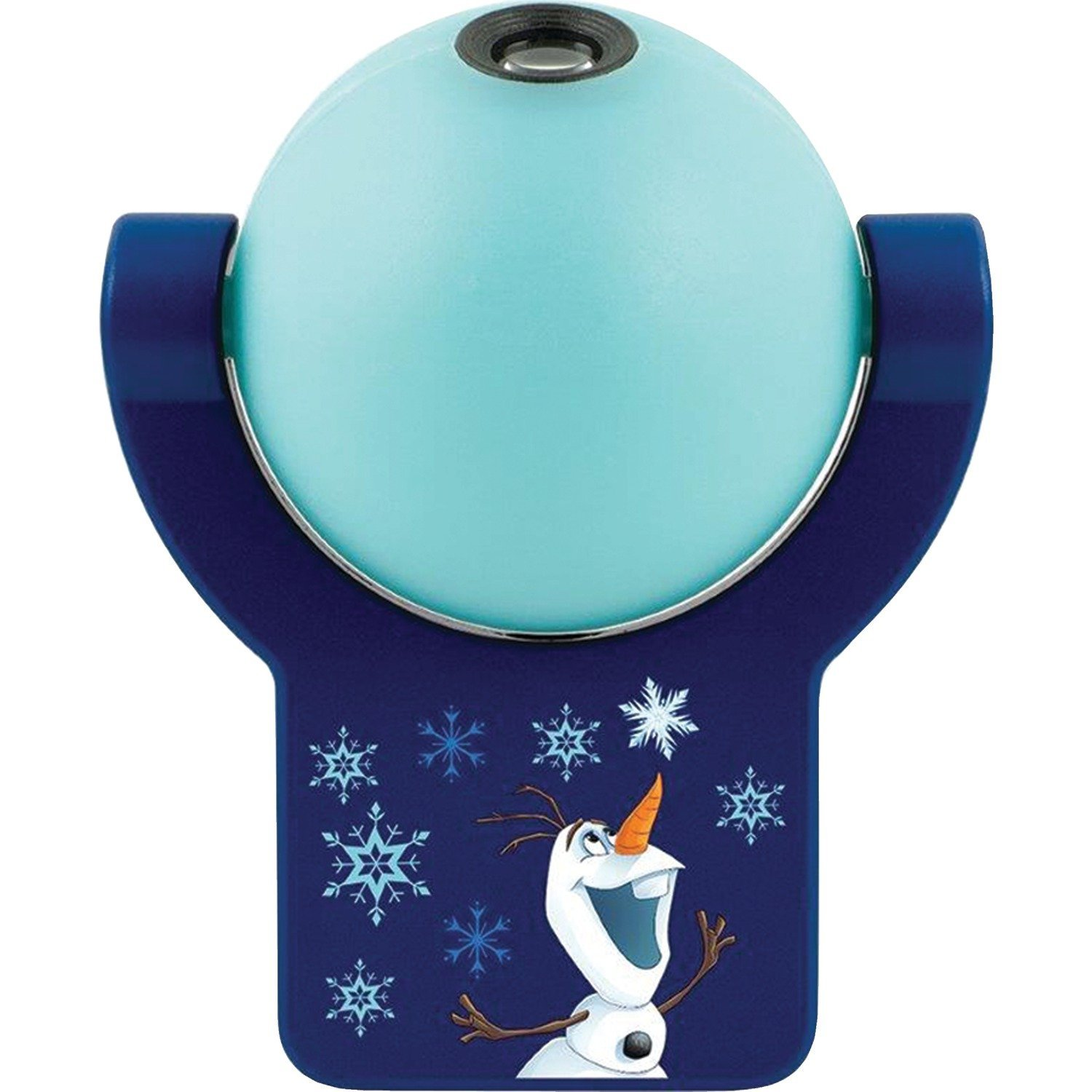 Projectables 29812 Frozen LED Plug-in Night, Soft Blue Glow, Light Sensing, Auto Disney Characters Olaf and Sven, 29811