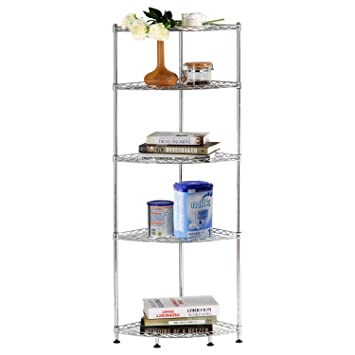 lifewit corner shelf 5 tiers adjustable metal storage wire shelving unit metal storage shelves corner