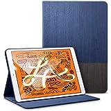 ESR iPad Mini 5 2019 ケース レザー 合皮 スマート カバー シンプル 軽量 スエード 柔らかな内側 キズ防止 二つ折り オートスリープ ウェイクアップ 機能 iPad Mini5(第五世代)専用 (紺鼠色)
