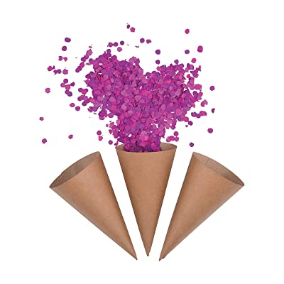 Kraft Paper Confetti Cones (50 cone set) Bulk Party Supplies: Toys & Games