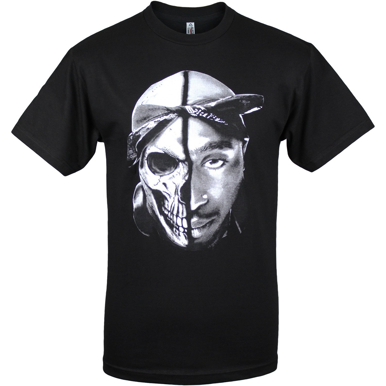 Black Tupac Shakur Skull 2pac Mens T Shirt 3XL: Amazon ca: Books