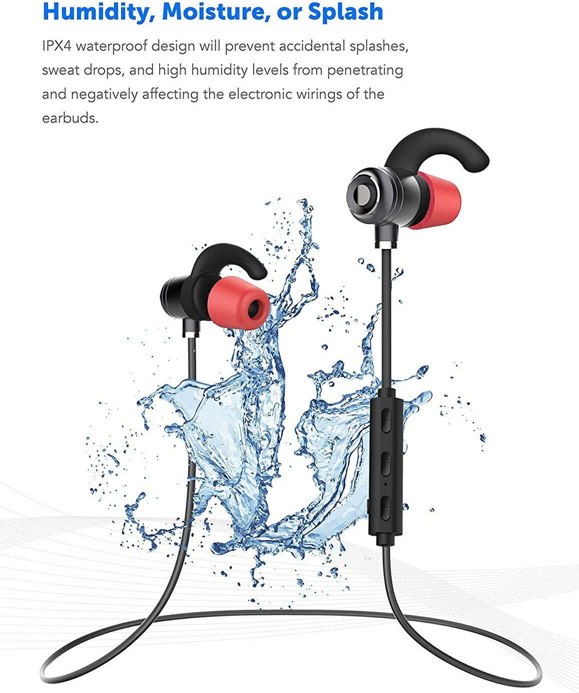 Samsung Galaxy On7 Bluetooth Headset In-Ear Running Earbuds IPX4 Waterproof with Mic Stereo Earphones Samsung,Google Pixel,LG CVC 6.0 Noise Cancellation works with Apple