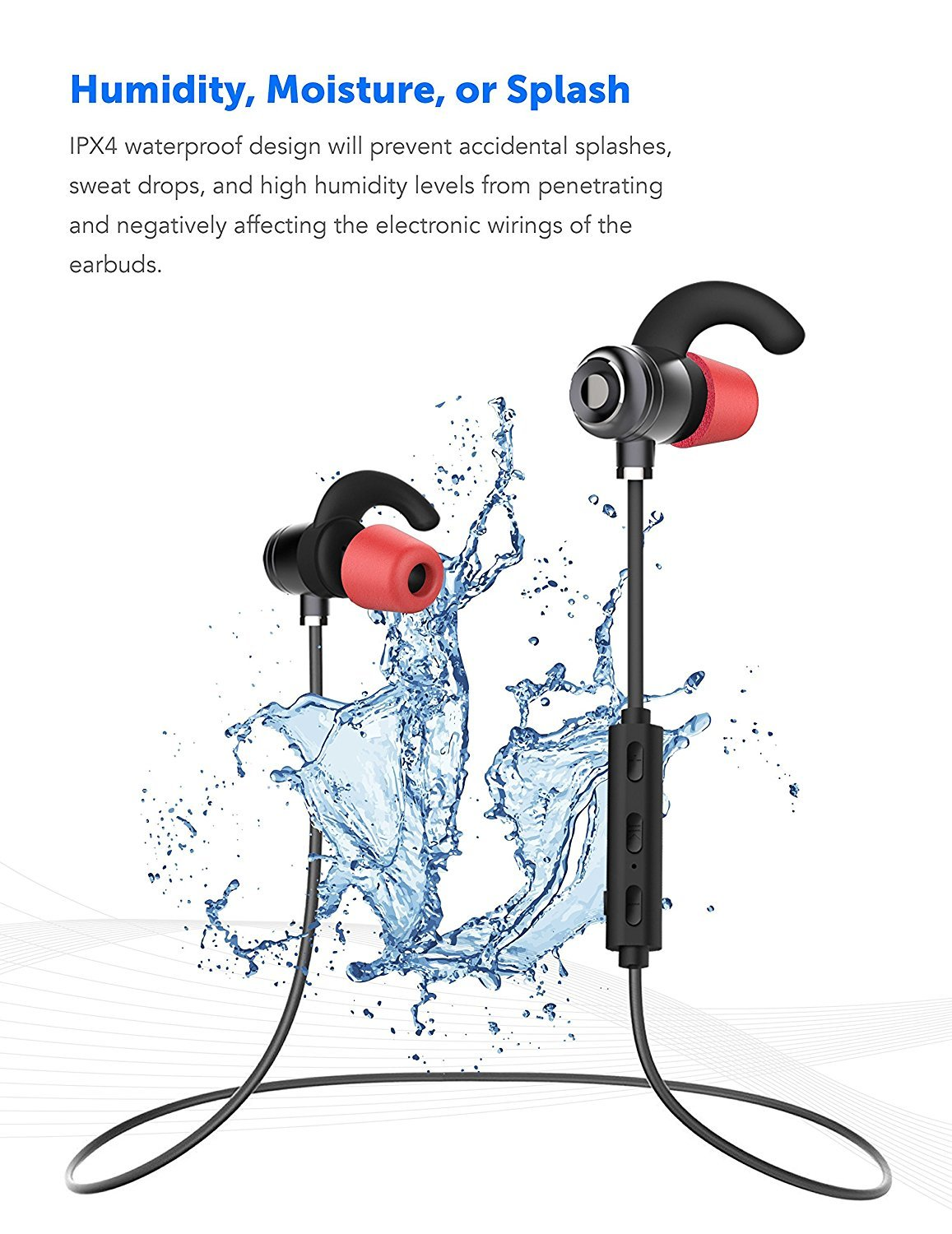 Sonim XP STRIKE Bluetooth Headset In-Ear Running Earbuds IPX4 Waterproof with Mic Stereo Earphones, CVC 6.0 Noise Cancellation, works with, Apple, Samsung,Google Pixel,LG by Ixir (Image #2)