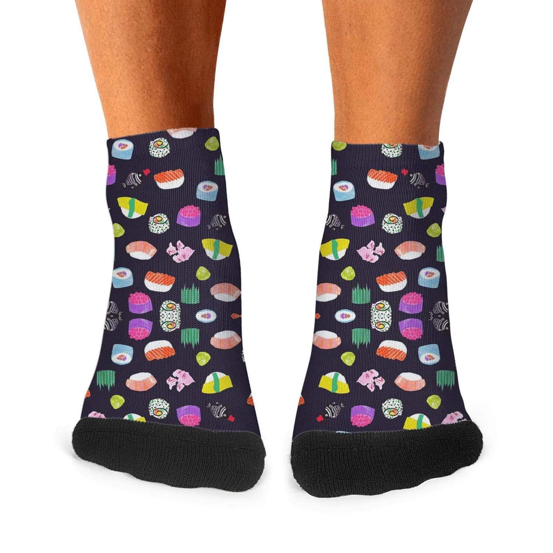 Illustrator sushi mens socks retro no deformation compression socks super comfy short socks Unisex