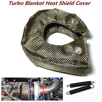 Nueva T3 titanio Lava, manta de Turbo turbocompresor para envolver con remaches de acero inoxidable