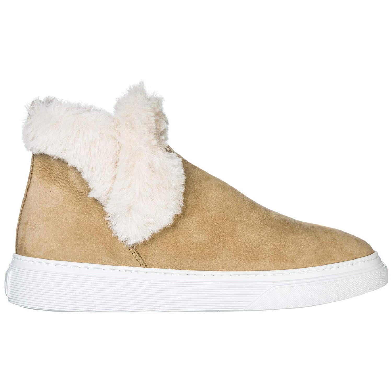 | .Hogan Women H365 Ankle Boots Beige 8 US | Shoes